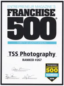 TSS Photography franchise ranked 332 by Franchise 500