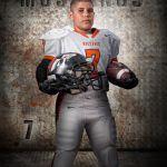 Mustangs Football Portrait Photo